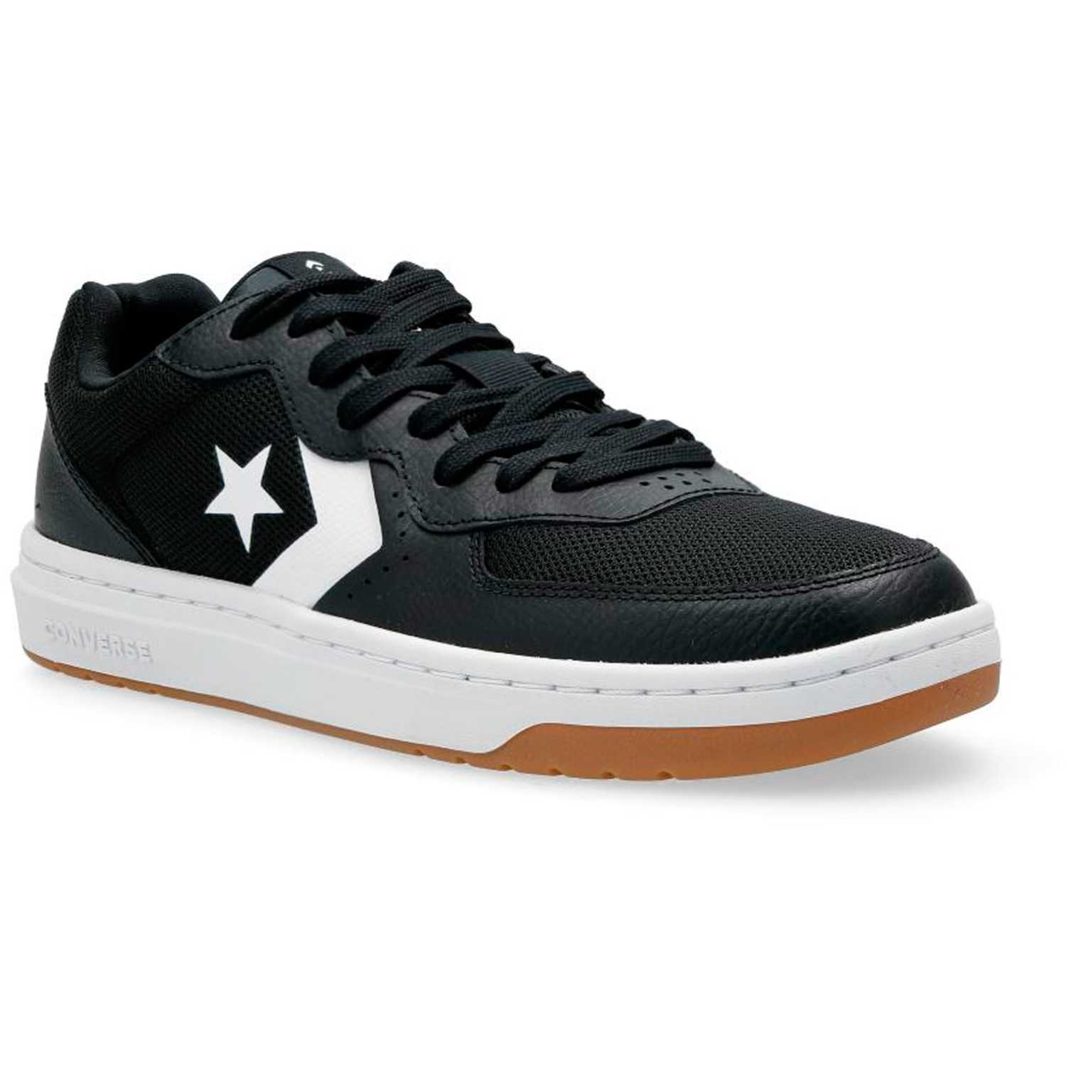 Converse converse rival leather ox Negro / blanco Walking