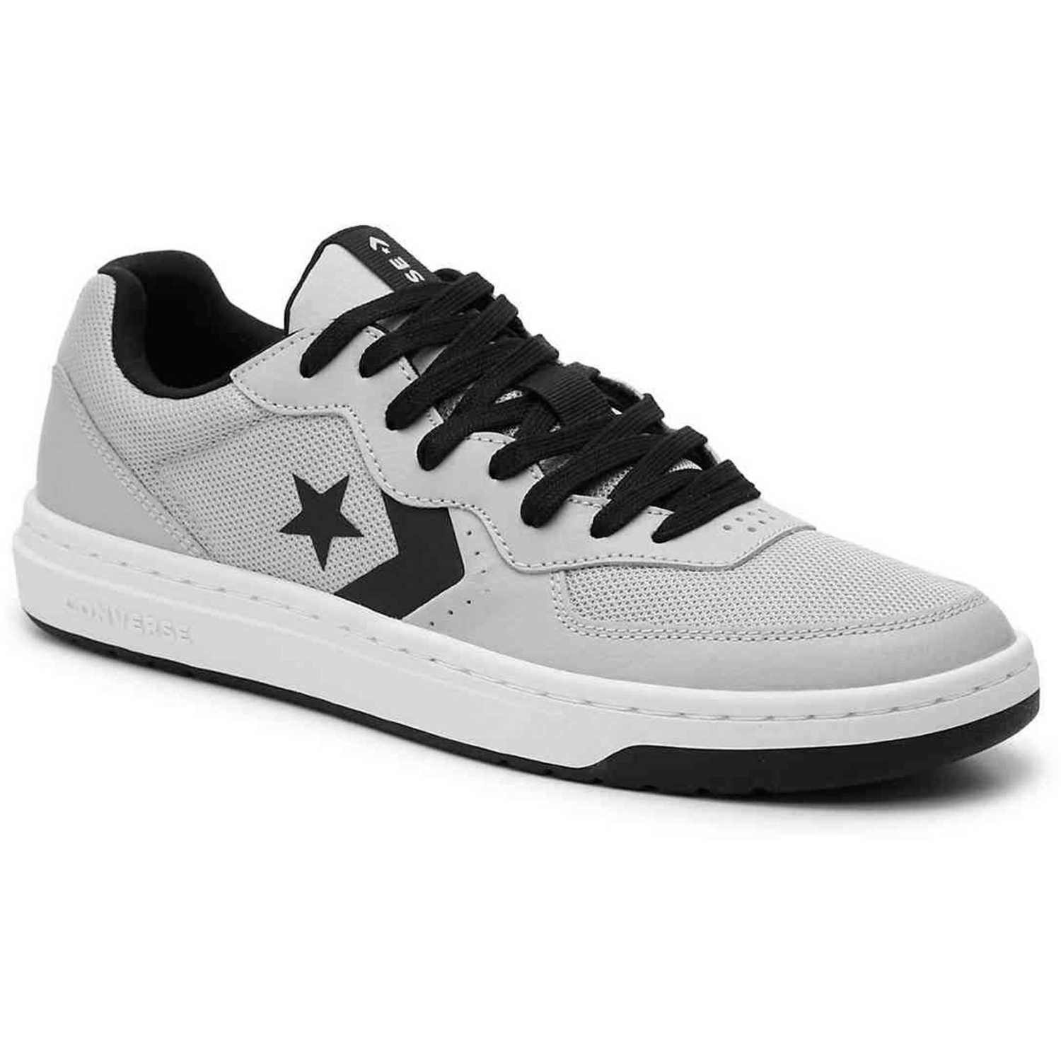 Converse converse rival leather ox Gris / negro Walking