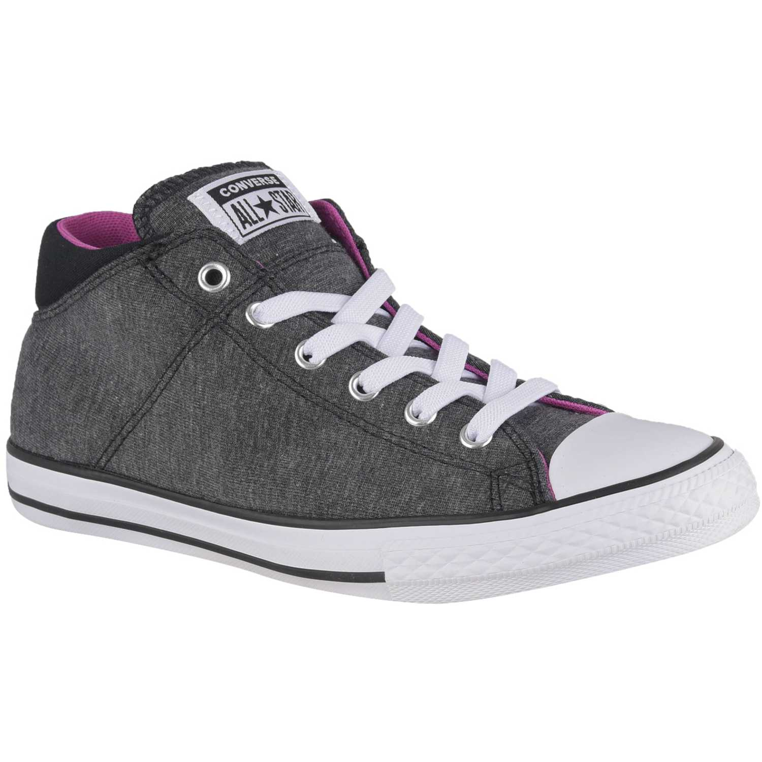 Converse chuck taylor all star madison court hero mid Negro / fucsia Walking
