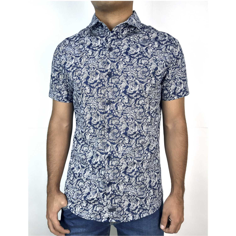 Camisas de Hombre ROCK & RELIGION Azul / blanco axel