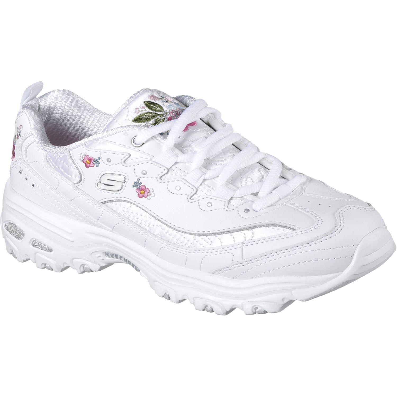 Colonial grieta ama de casa  Skechers Dlites - Bright Blossoms Blanco Para caminar | platanitos.com