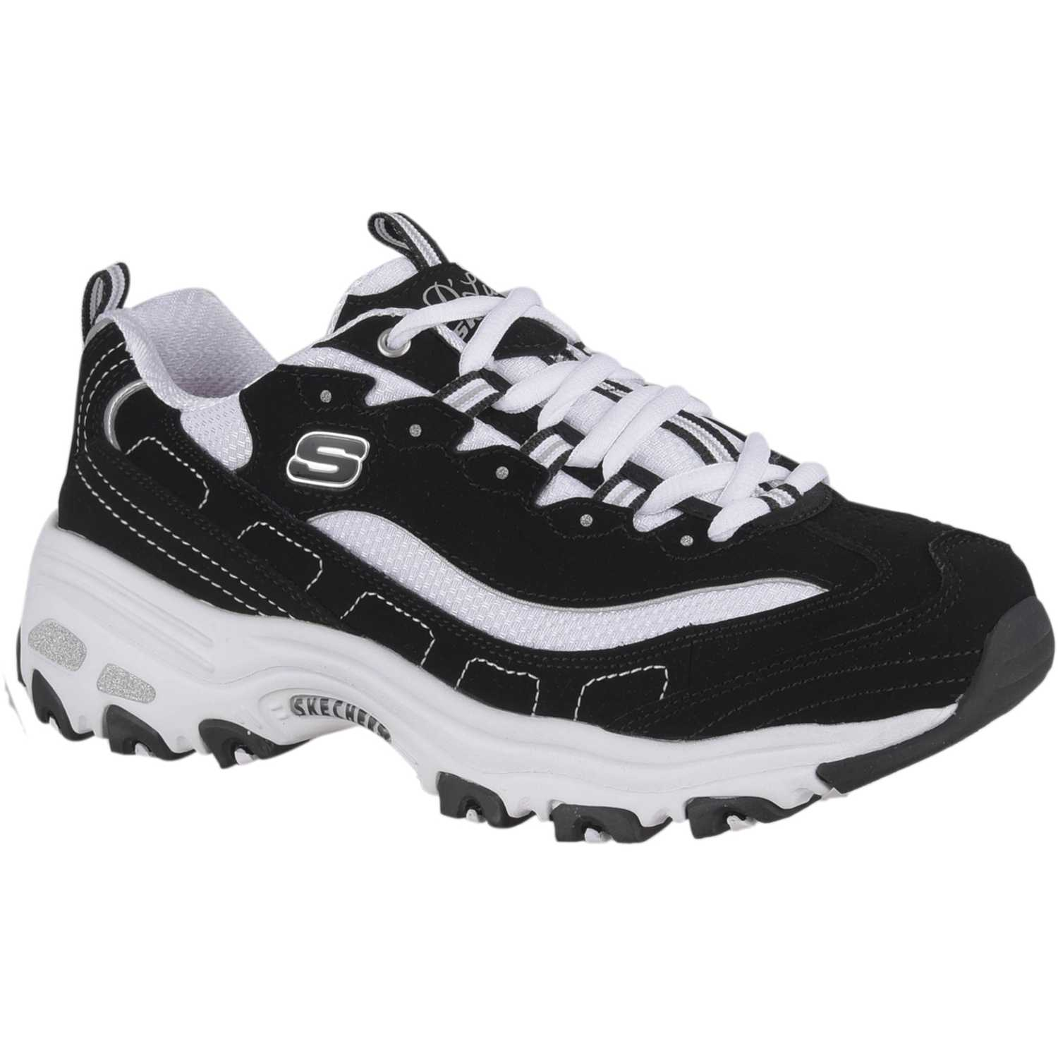 Skechers d'lites Negro / blanco Walking