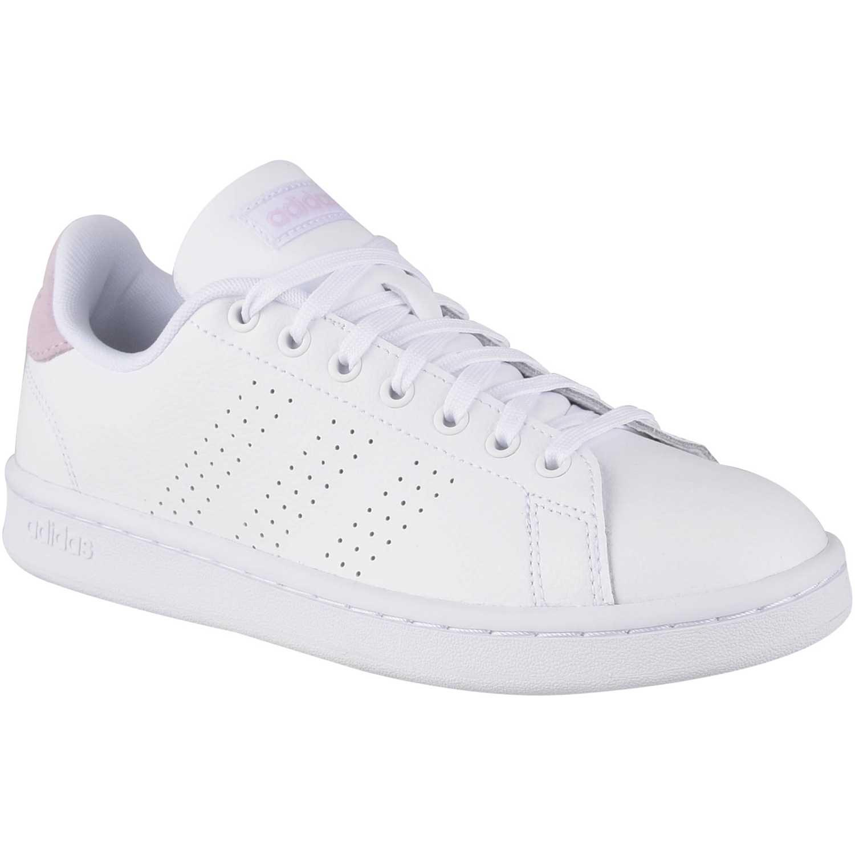 Adidas advantage Blanco / rosado Walking