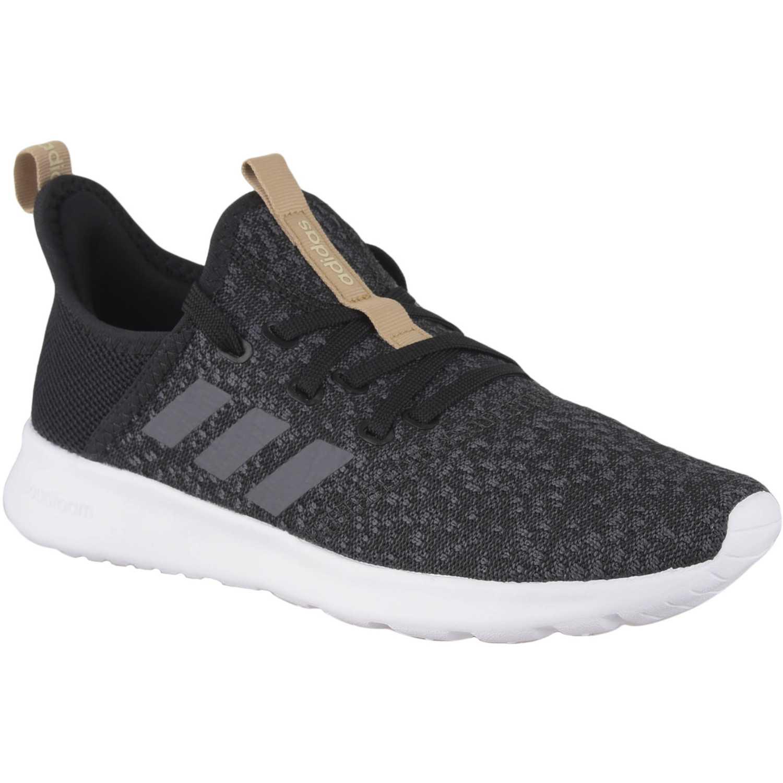 Adidas cloudfoam pure Negro / blanco Walking | platanitos.com