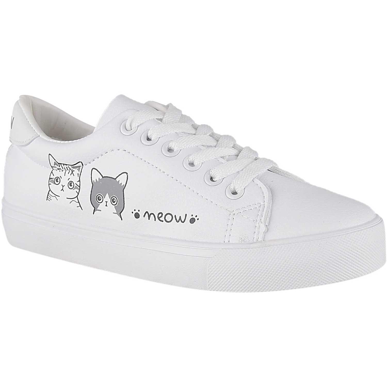 Zapatillas de Mujer Platanitos Blanco zc 5266