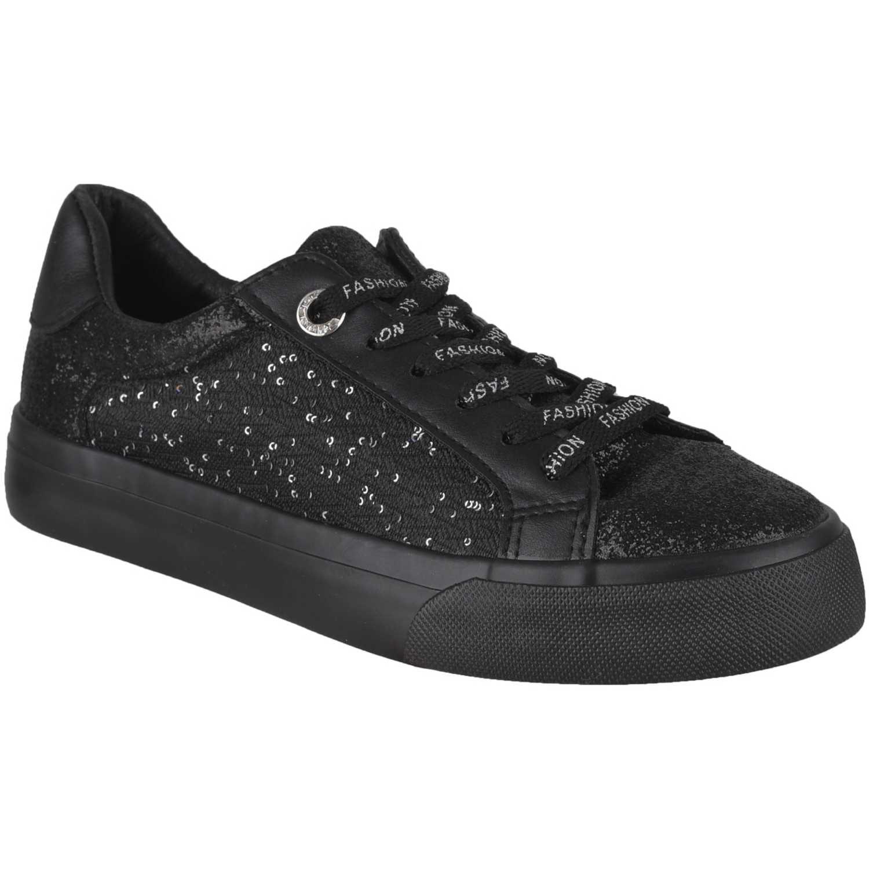 Zapatillas de Mujer Platanitos Negro zc 3169
