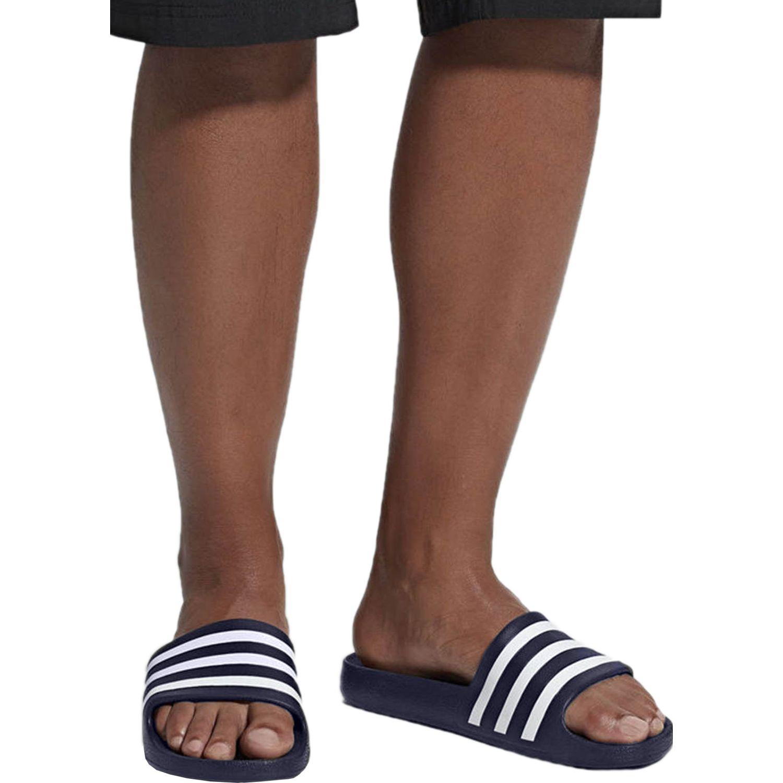 Adidas Adilette Aqua Navy / Blanco Sandalias deportivas y slides