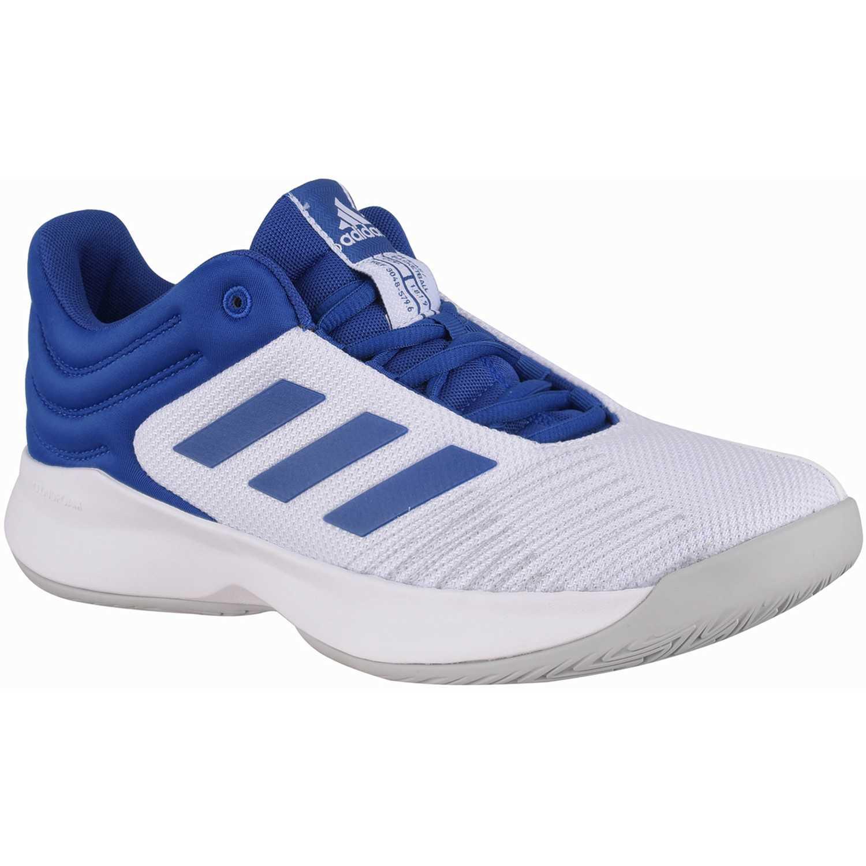Adidas pro spark 2018 low Blanco / azul Hombres