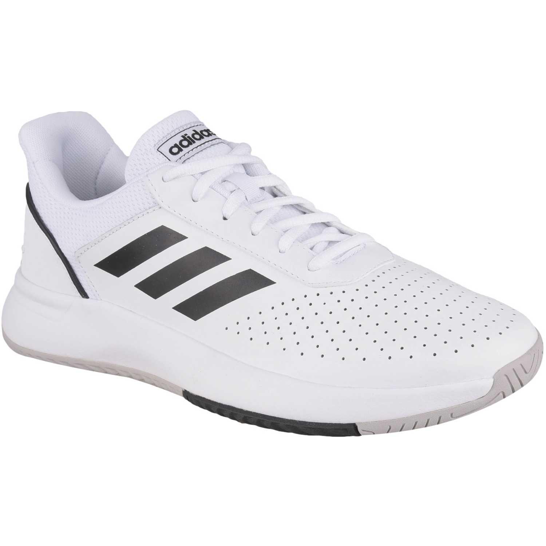 Zapatilla de Hombre Adidas Blanco / negro courtsmash