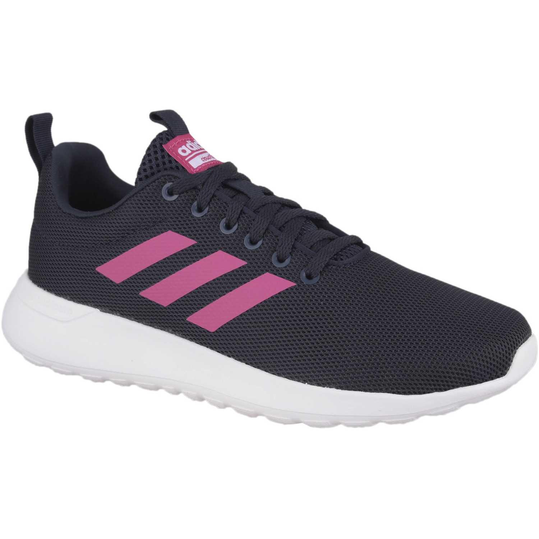 Adidas lite racer cln Negro / fucsia Walking