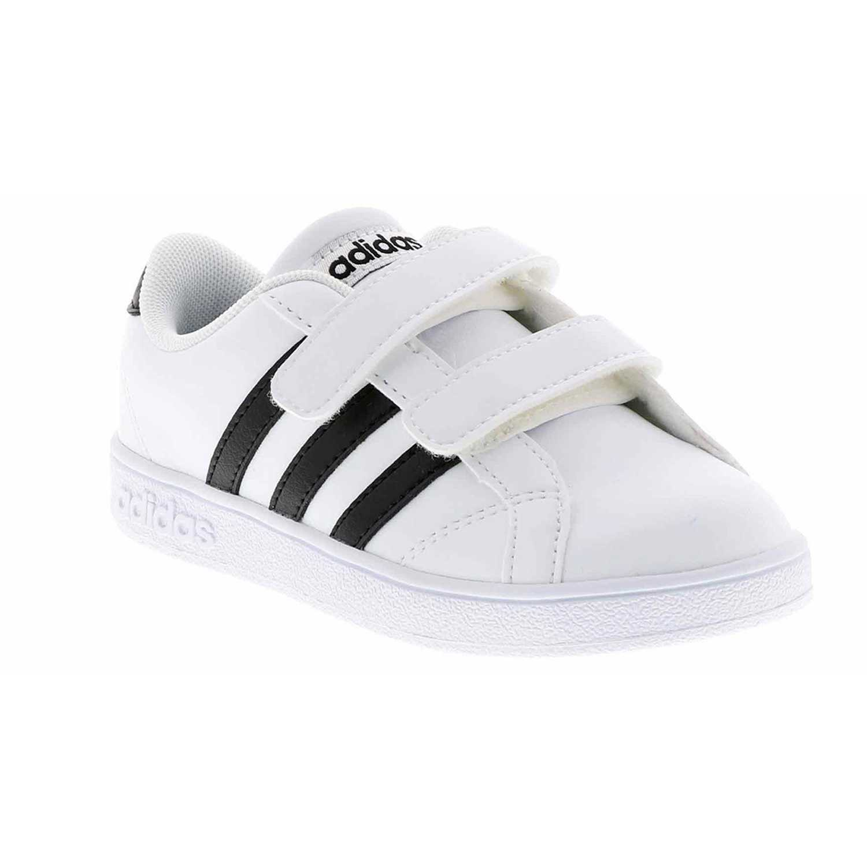 Cuña de Mujer Adidas Blanco / negro baseline cmf inf