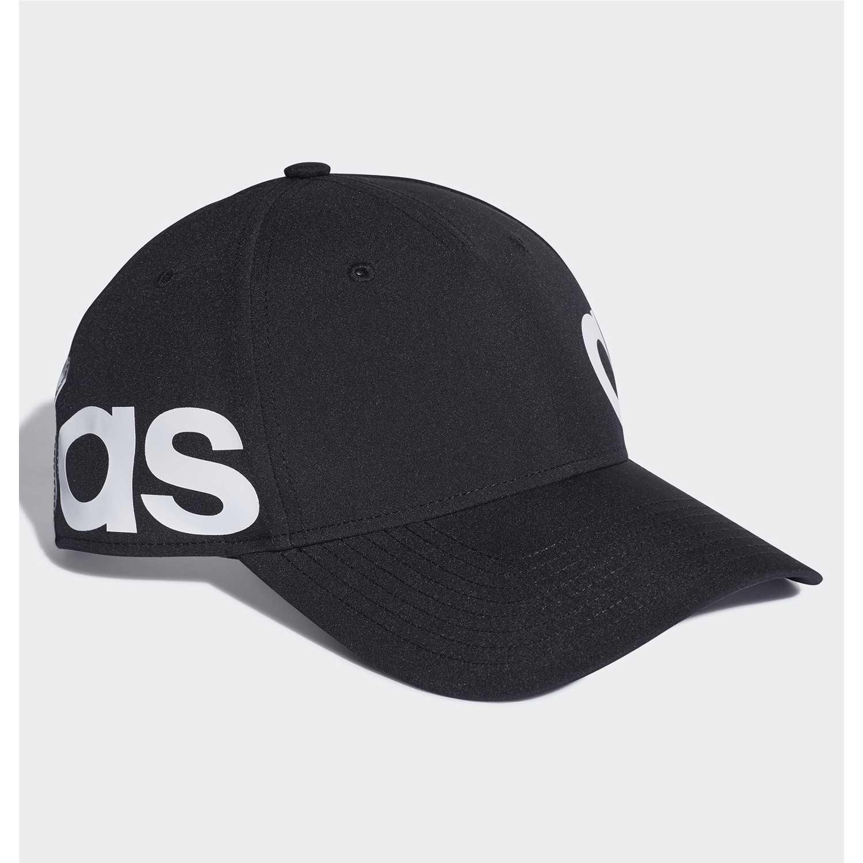 Adidas c40 linear cap Negro / blanco Gorros de Baseball