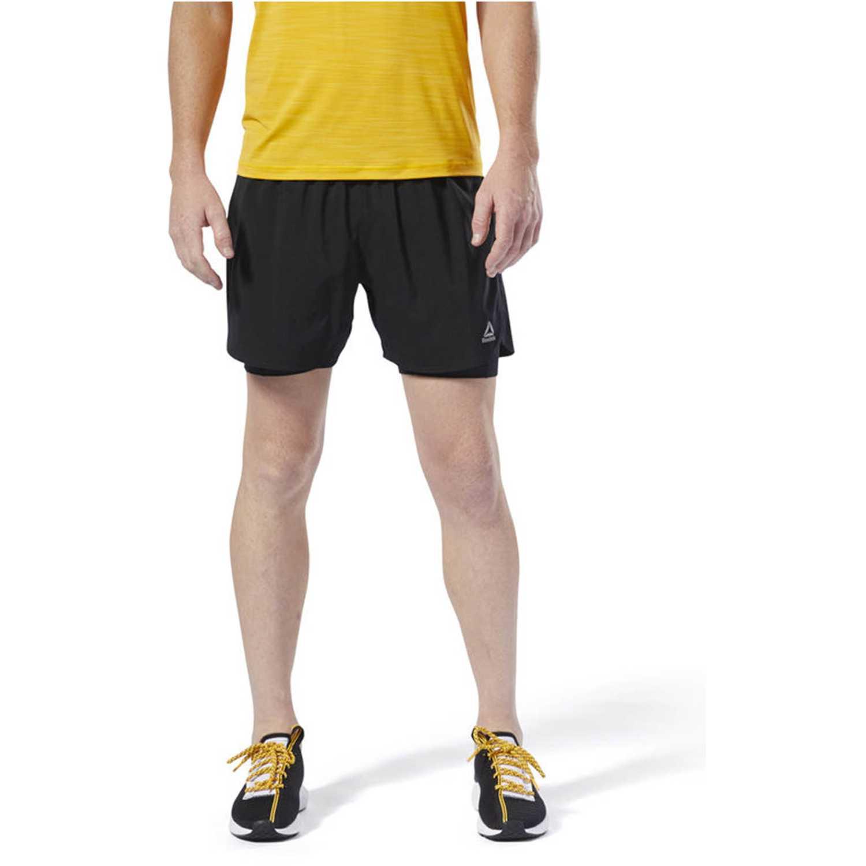 Reebok re  2-1  short Negro Shorts Deportivos