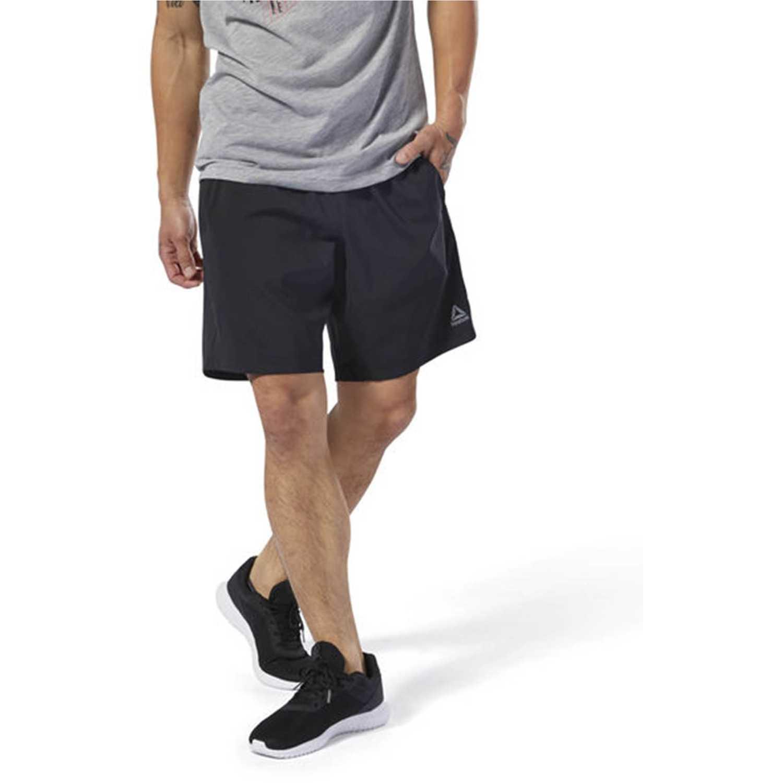 Reebok wor woven short Negro / plomo Shorts Deportivos