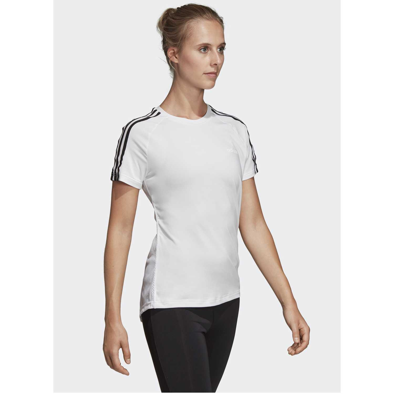Adidas W D2m 3s Tee Blanco / negro Polos