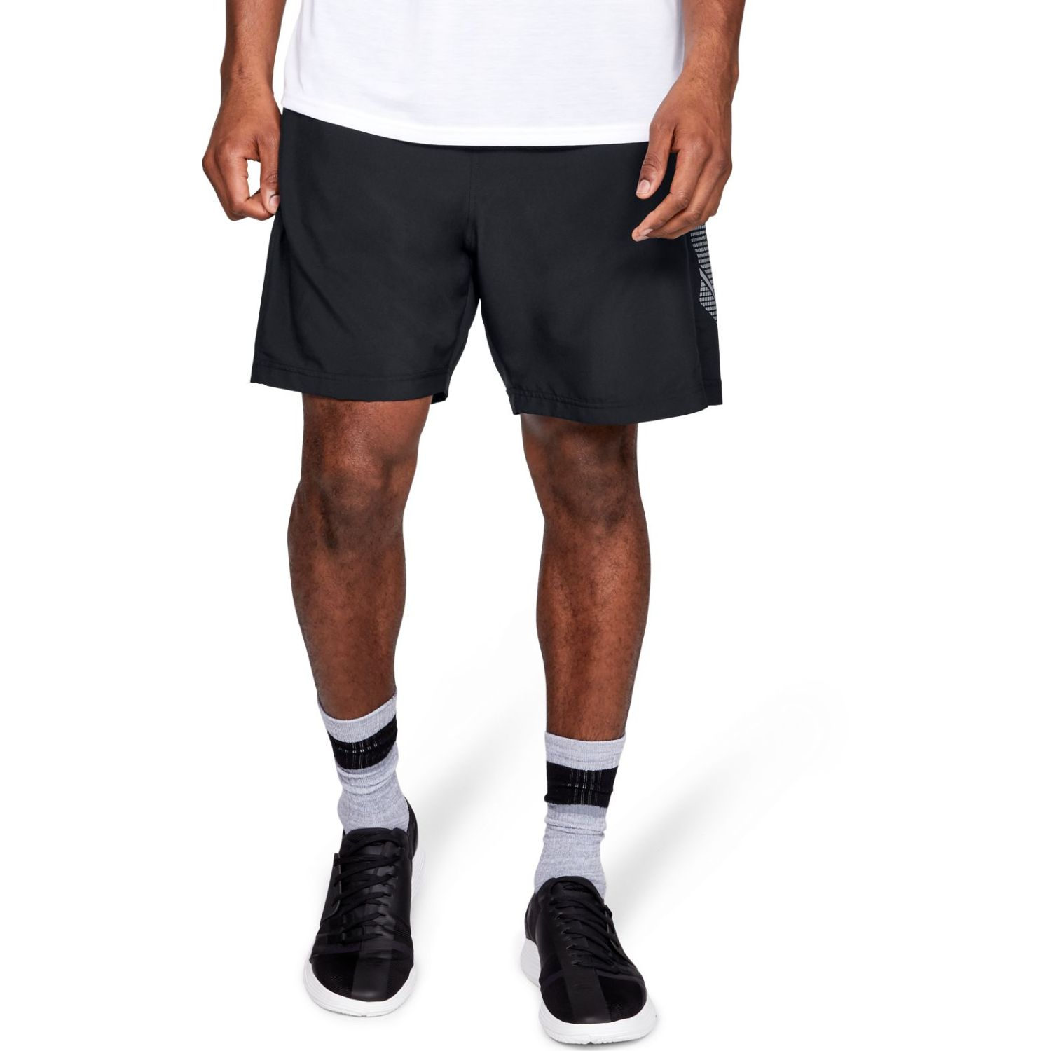 Under Armour Woven Graphic Short-Blk Negro Shorts Deportivos