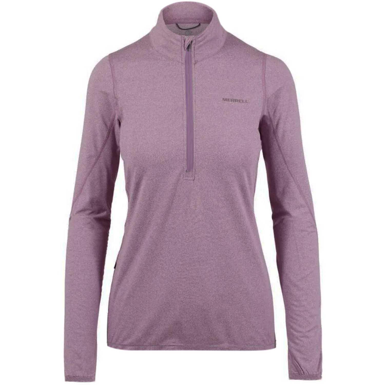Merrell wms betatherm 1/4 zip fleece Lila Casacas de Atletismo