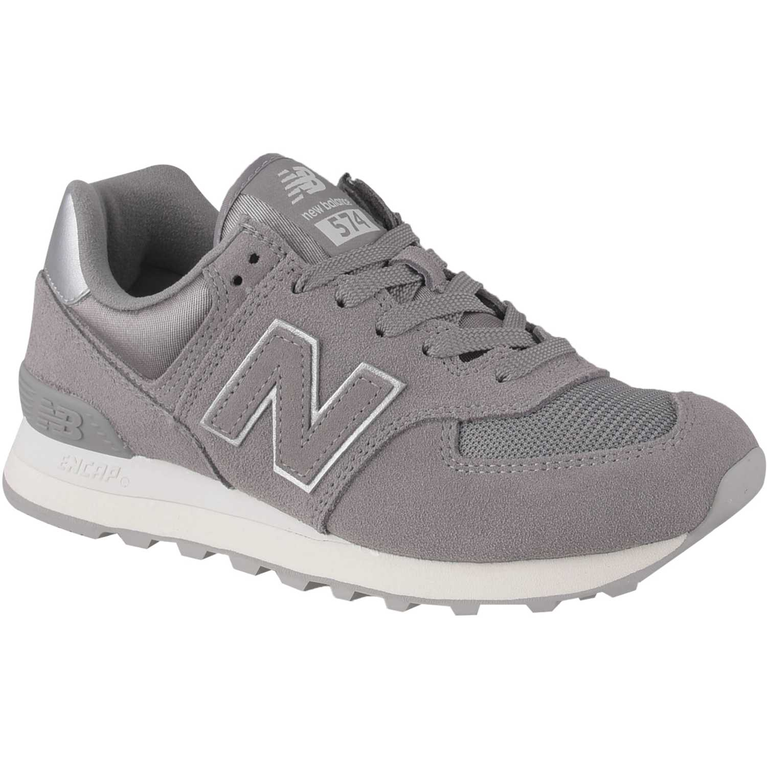 New Balance 574 Gris / blanco Walking | platanitos.com