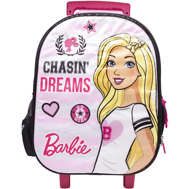 Mochila con ruedas de Niña Barbie Rosado maleta con ruedas barbie