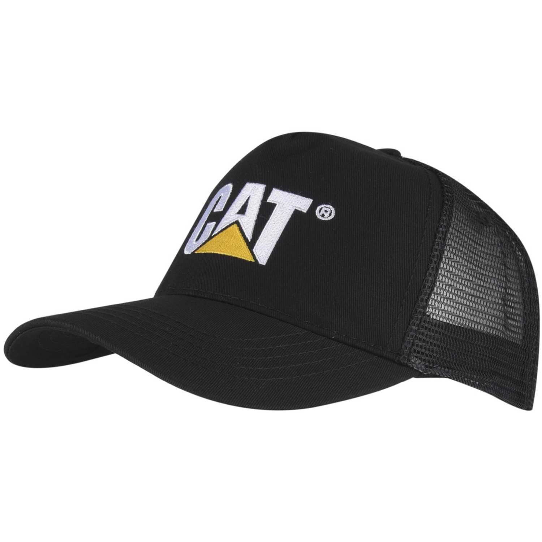 Gorro de Hombre CAT Negro design mark mesh hat
