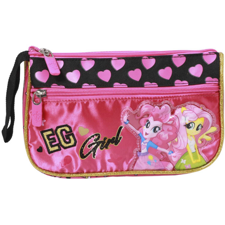 My Little Pony Cartuchera MLP EQUESTRIA GIRLS Rosado / negro portalápices
