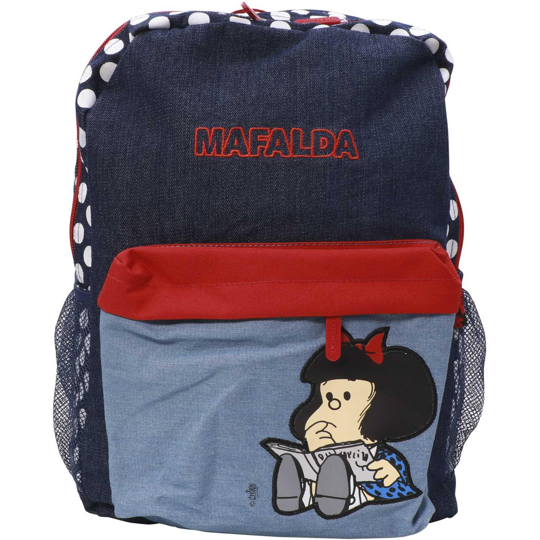 Mochila de Niña Mafalda Azul / rojo mochila mafalda