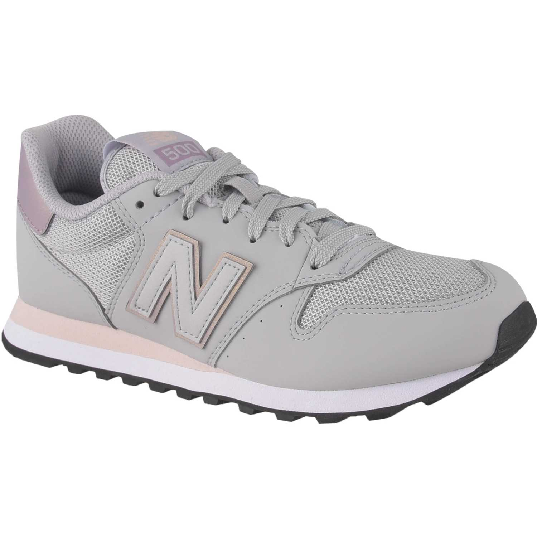 New Balance 500 Gris / rosado