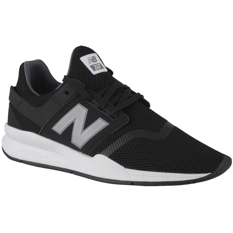 new balance negras con blanco