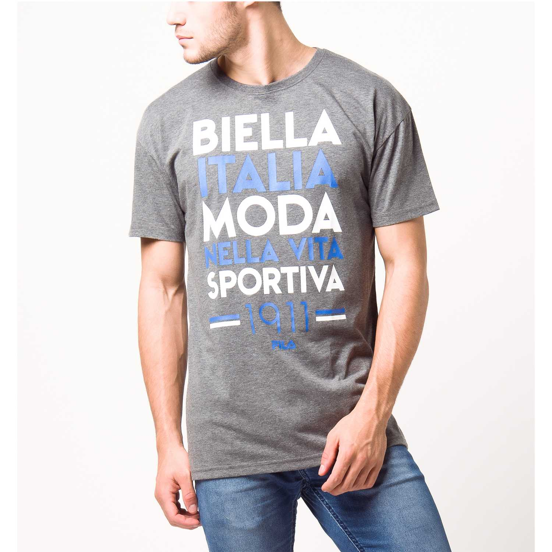 Fila Men T-Shirt Moda 1911 Gris Camisetas y polos deportivos