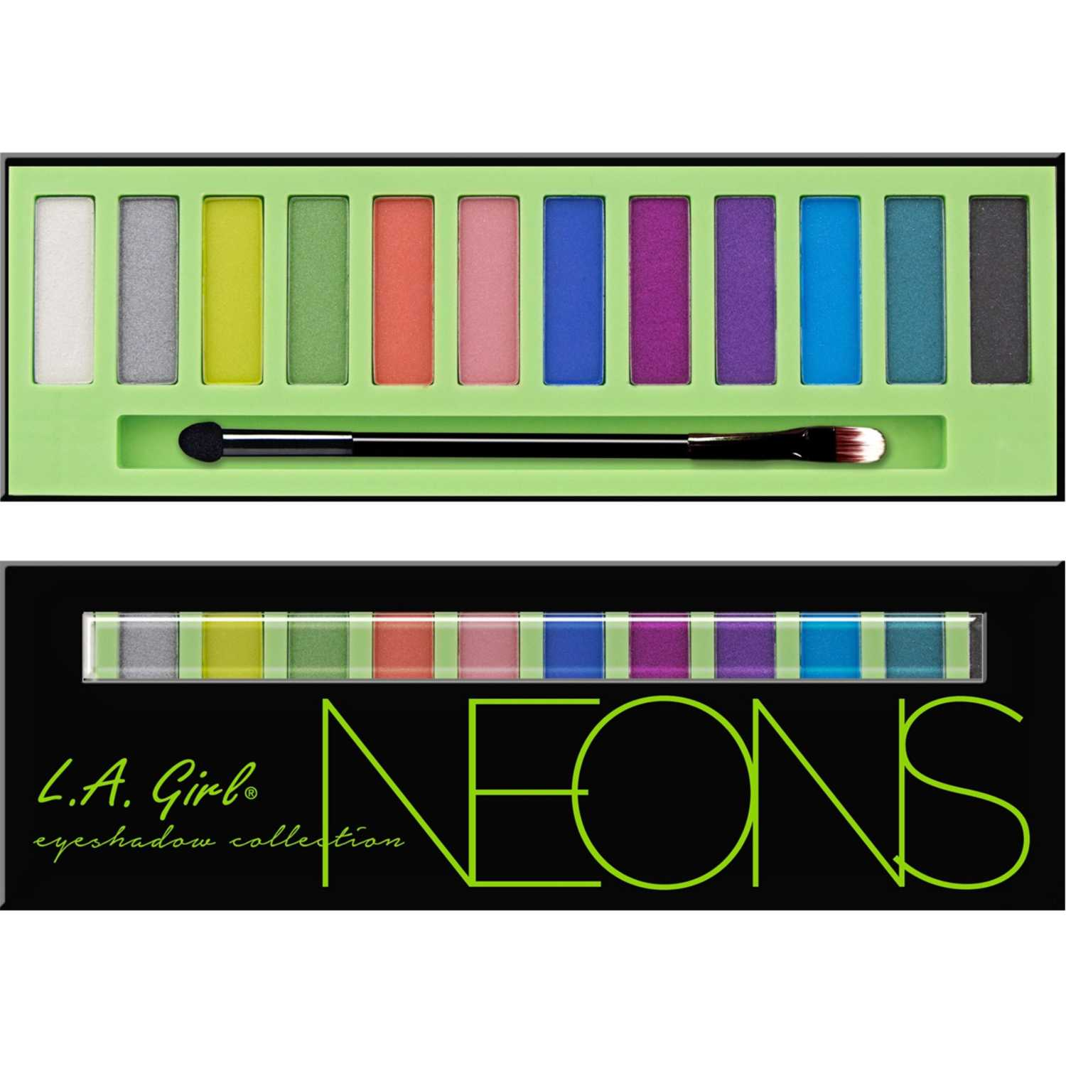 L.a. Girl beauty brick eyeshadow collection Neon Sombra