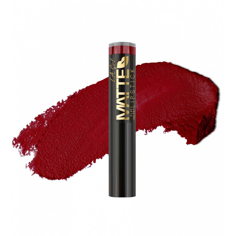 L.a. Girl matte flat velvet lipstick Runway Lápiz labial