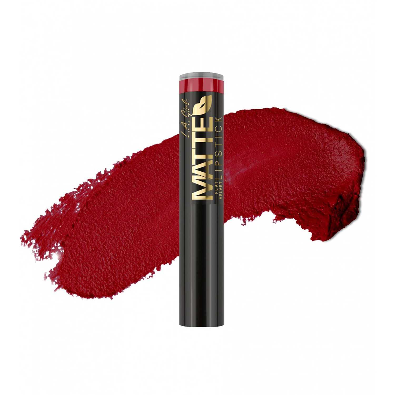 L.a. Girl Matte Flat Velvet Lipstick Bite Me Lápices labiales