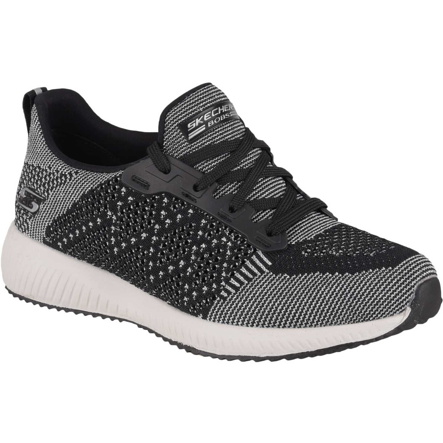 Casual de Mujer Skechers Negro / blanco bobs squad - hot spark