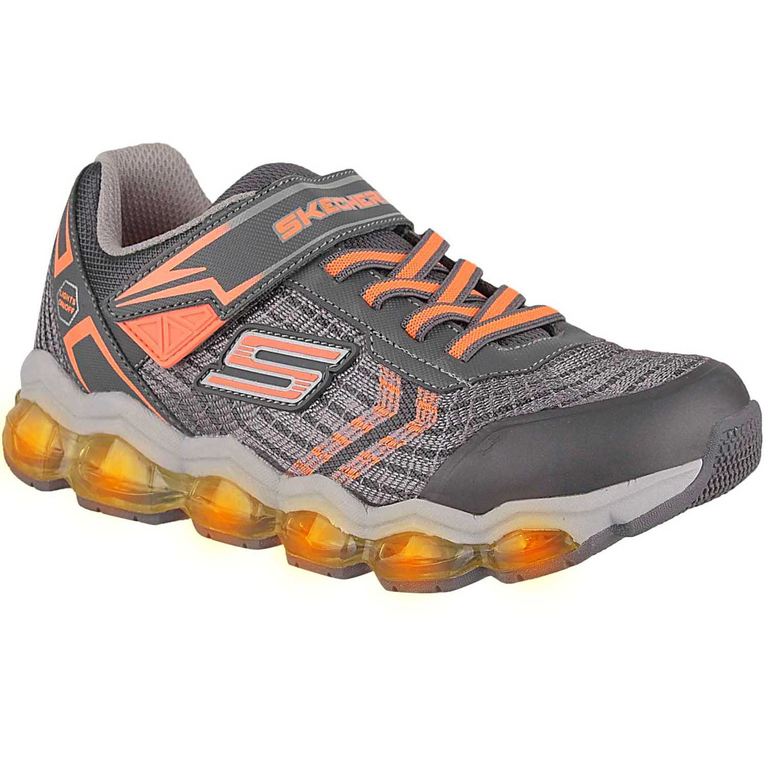 Casual de Niño Skechers Gris / amarillo turbo-flash