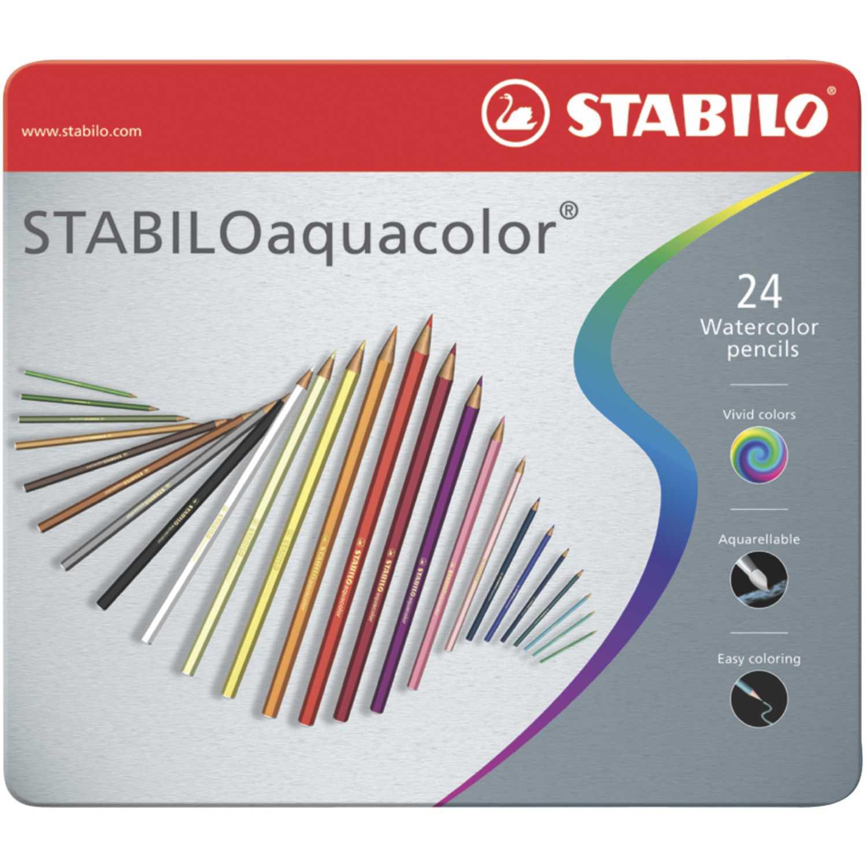 Stabilo STA AQUACOLOR X 24 ESTUCHE DE METAL Varios Lápices de color