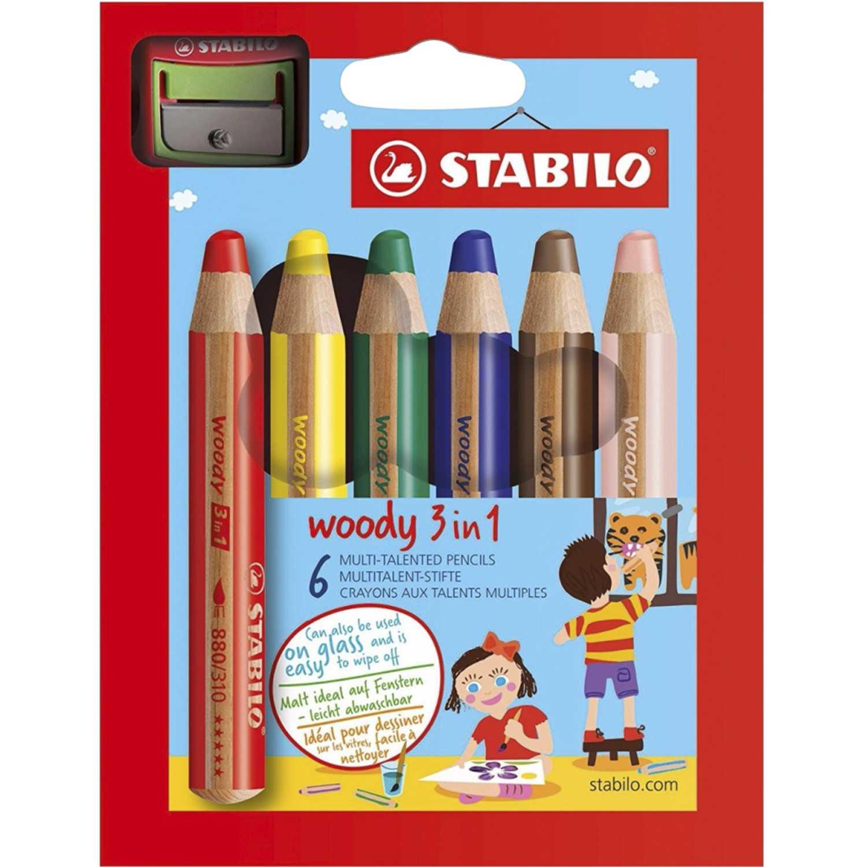 Stabilo Sta Woody  X 6 Unid. Varios Crayolas