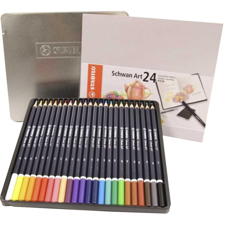 Stabilo sta schwan art colores x 24 uds est.metal Varios Lápices de color