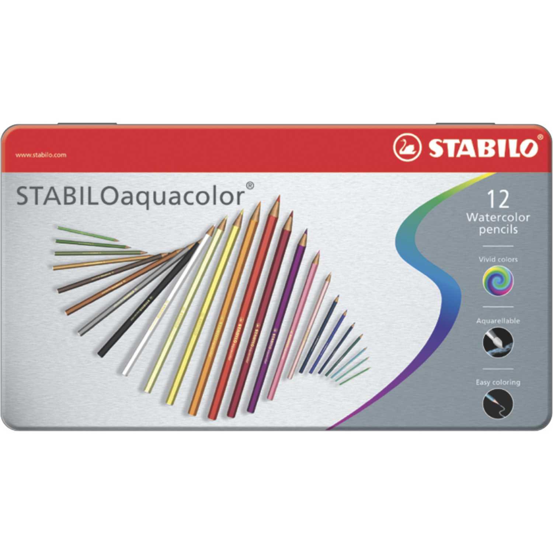 Stabilo STA AQUACOLOR X 12 ESTUCHE DE METAL Varios Lápices de color