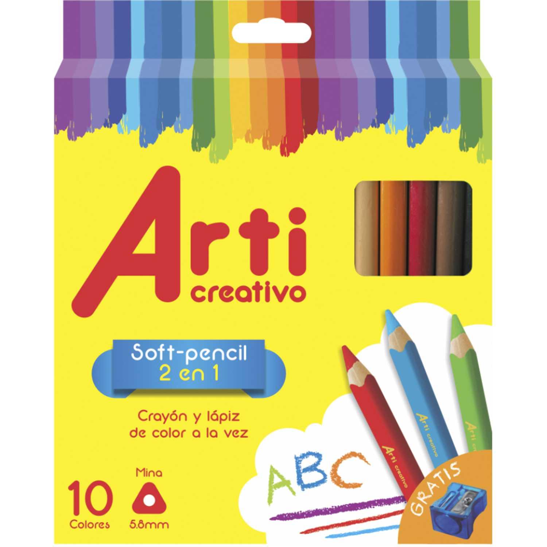 Arti Creativo Ac Soft Pencilx 10 C/Tajador Varios Centros de arte