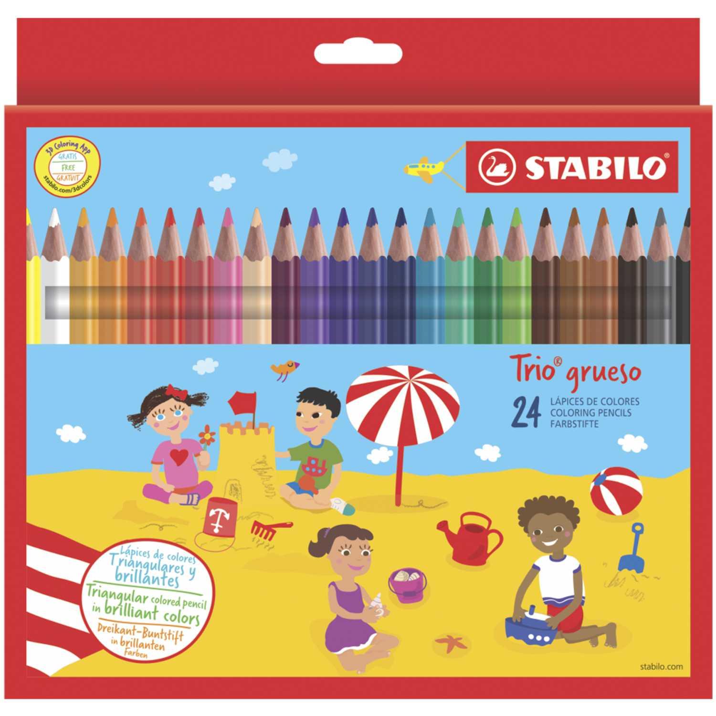 Stabilo Sta Trio Grueso X 24 Varios Crayolas