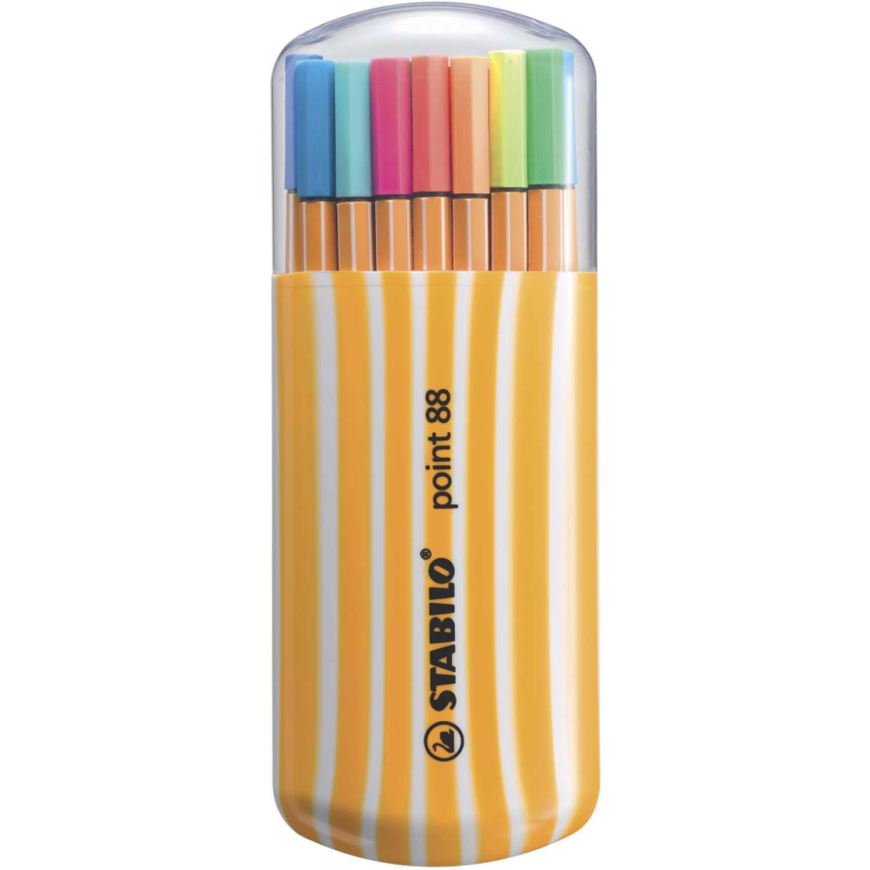 Stabilo sta point 88 fine pen zebrui neon en estuche x 20 Varios bolígrafos
