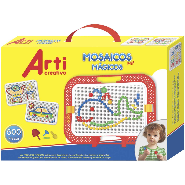 Arti Creativo Ac Mosaicos Magicos Pegs X 500pza Varios Habilidades básicas