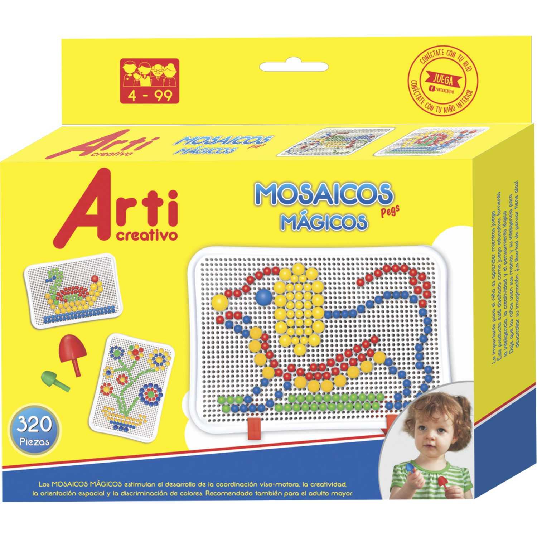 Arti Creativo Ac Mosaicos Magicos Pegs X 320pza Varios Habilidades Básicas