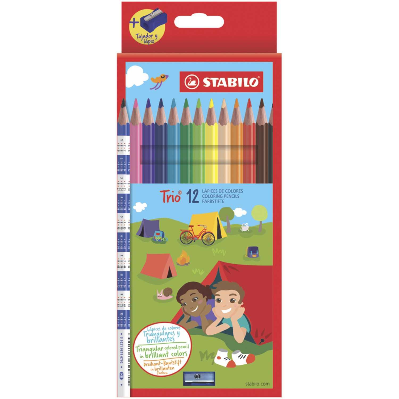 Stabilo Sta Trio Delgado X 12 Colores Varios Crayolas