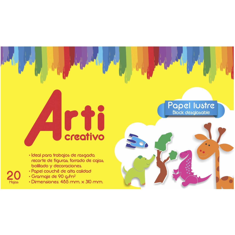 Arti Creativo AC PAPEL LUSTRE BLOCK X 20 HJS Varios Copiar y Multipurpose Paper