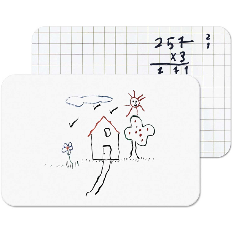 Bi-office bsq piz. 21x30 (a4) melamine blanca cuadricula Blanco Pizarras blancas