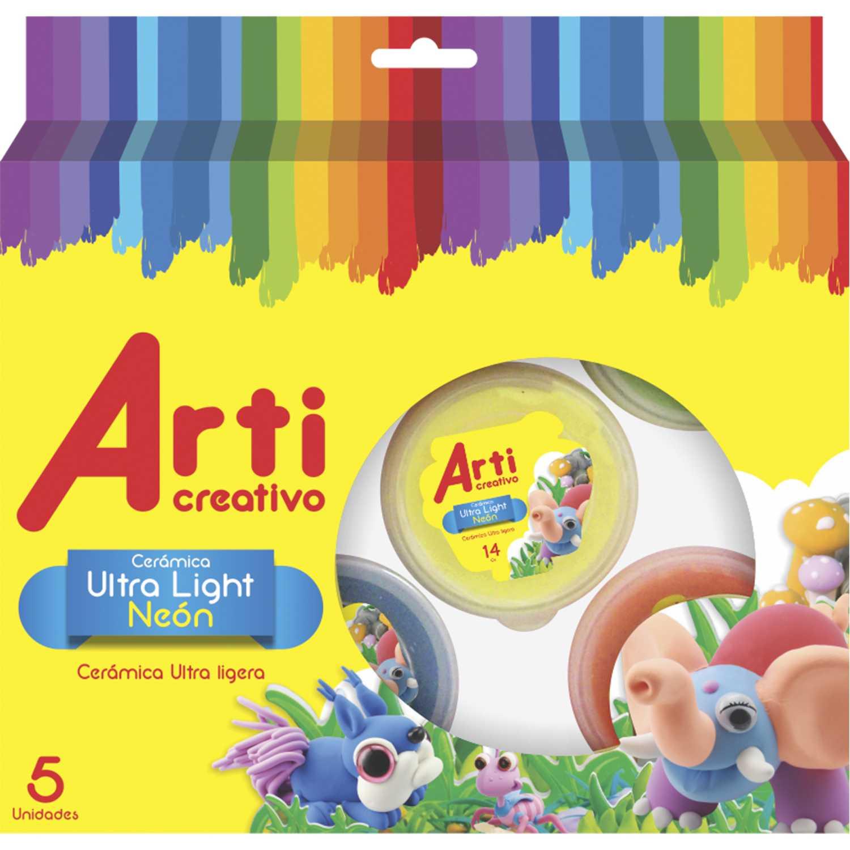 Arti Creativo Ac Masa Ultralight 5x14gr Neon 81037 Varios Habilidades Básicas