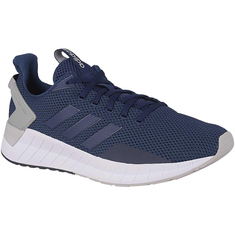 Adidas questar ride Navy / Blanco Running en pista