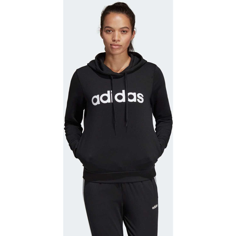 Adidas W E Lin Oh Hd Negro / blanco Hoodies Deportivos
