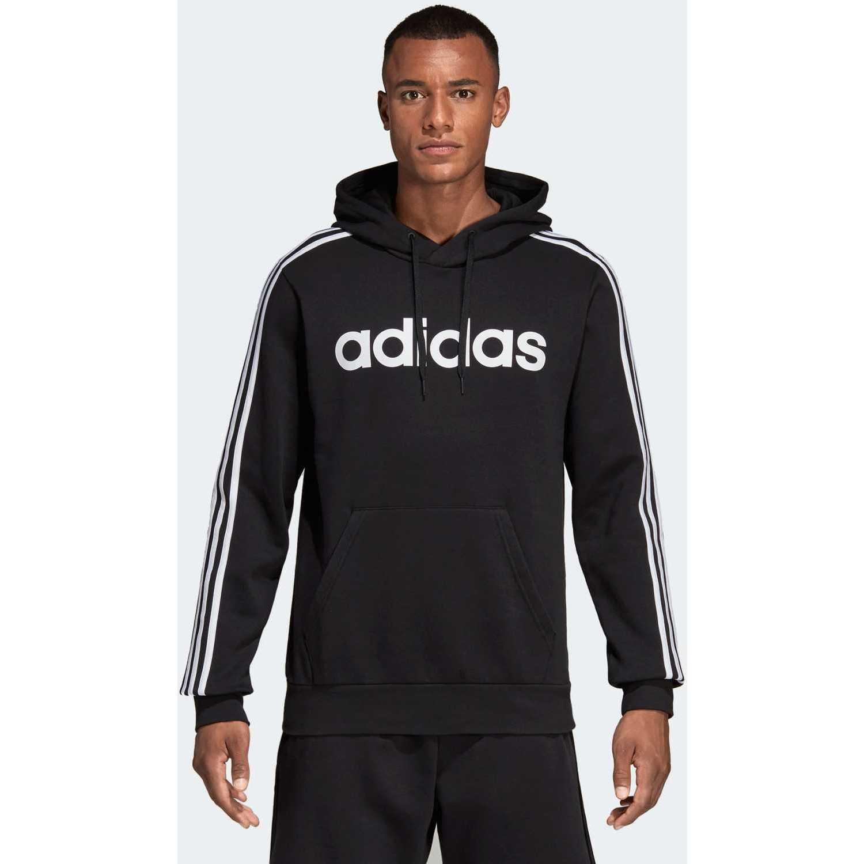 Adidas E 3s Po Fl Negro / blanco Hoodies Deportivos
